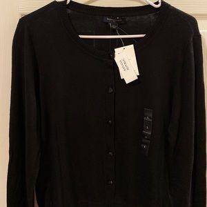NWT Banana Republic Black Cardigan Sweater Size L